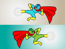 Retroceso del super héroe Imagenes de archivo