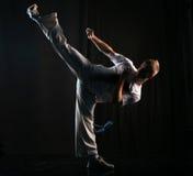 Retrocesso elevado da arte marcial Fotografia de Stock