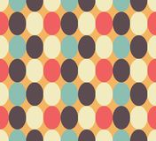 Retrol colored oval seamless pattern Royalty Free Stock Photography