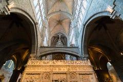 Retroquire na catedral de Avila Foto de Stock