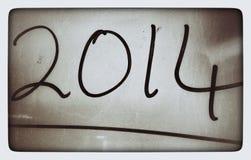 2014 retros escritos à mão na foto Fotografia de Stock