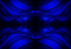 Retrospectieve Blauwe Schaduwen & Bezinningen stock illustratie