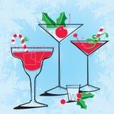 Retrostil-Feiertags-Cocktails lizenzfreie abbildung