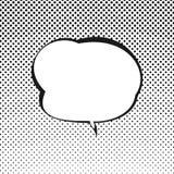 Retrostil-Sprache-Blase Stockbild