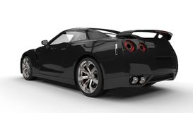 Retrovisione automobilistica di sport neri Fotografia Stock Libera da Diritti