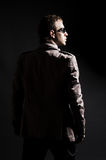 Retrovisione del DJ in occhiali da sole Fotografie Stock