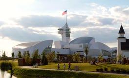 Retrovisione della costruzione principale al parco di scoperta dell'America, città Tennessee del sindacato immagine stock libera da diritti