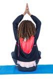Retrovisione della donna nella posizione di yoga Immagine Stock Libera da Diritti