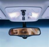 retrovisione dello specchio Immagine Stock
