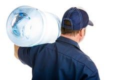 Retrovisione di consegna dell'acqua Immagine Stock Libera da Diritti