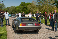 Retrovisione di DeLorean DMC-12 Fotografie Stock