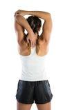 Retrovisione di esercitazione dell'atleta femminile Fotografia Stock Libera da Diritti