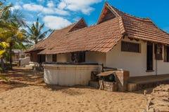 Retrovisione di una casa antica del Kerala, Kerala, India, il 25 febbraio 2017 fotografie stock