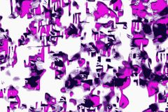 Retrowave abstract background with flashy funky purple color stock illustration