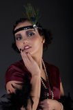 Retrowoman 1920s Royalty Free Stock Photography