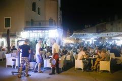 Retsurants on promenade in Rovinj Royalty Free Stock Image