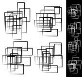 Rettangolare casuale e sparso, insieme di elementi di rettangolo Immagini Stock Libere da Diritti
