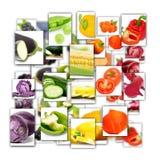 Rettangoli di verdure della miscela Immagine Stock