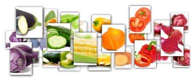 Rettangoli di verdure della miscela Fotografie Stock Libere da Diritti