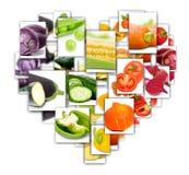 Rettangoli di verdure della miscela Fotografie Stock