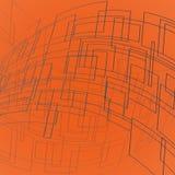 Rettangoli grigi di deformazione Fotografia Stock