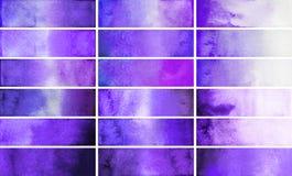 Rettangoli viola di pendenza dell'acquerello Immagine Stock
