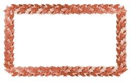 Rettangolo bronzeo dei rami dell'alloro Immagini Stock