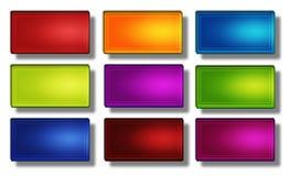 Rettangolo #02 dei bottoni di web Fotografia Stock
