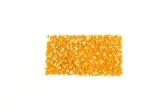 Rettangolo dei noccioli del popcorn Immagine Stock Libera da Diritti