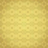 Rettangolo dell'angolo arrotondato dell'oro e fiore e linea modello Fotografia Stock