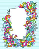 Rettangolo di doodle del taccuino royalty illustrazione gratis
