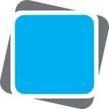 Rettangolo di gray blu Fotografie Stock
