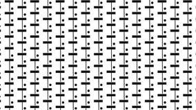 Rettangolo e modello di punto monocromatici Fotografia Stock