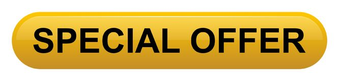Rettangolo giallo dorato di offerta speciale con il bottone dell'angolo arrotondato illustrazione vettoriale