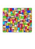Rettangolo - vetro della macchia Immagini Stock