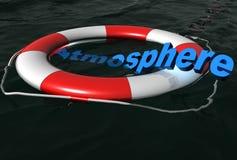 Retten Sie Atmosphäre auf Wasser Stockbild