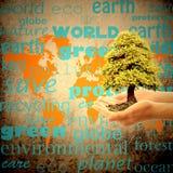 Retten Sie die Planetenerde Stockfoto