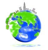 Retten Sie die Welt Stockbilder