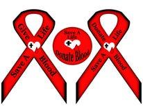 Retten Sie ein Leben spenden geben Blut Stockfotografie