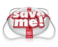 Retten Sie mich Rettungs-Hilfe der Schwimmweste-Wort-PAS lizenzfreie abbildung