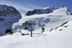 Rettenbach Glacier Royalty Free Stock Photo