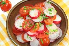 Rettich- und Tomatesalat Stockbild