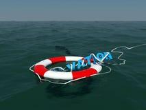 Rettung auf Seeoberfläche Lizenzfreie Stockfotografie