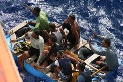 Rettung in Meer Lizenzfreies Stockfoto