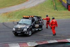 Rettungs-Auto und Team Stockfotografie