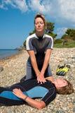 Rettungs-Training stockbild