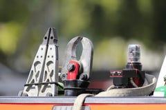 Rettungs-Werkzeug auf Landstraße Lizenzfreie Stockfotografie