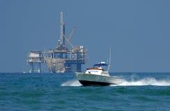 Rettungsboot auf Patrouille Lizenzfreies Stockfoto