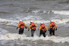 Rettungsboot-Besatzung Lizenzfreie Stockbilder