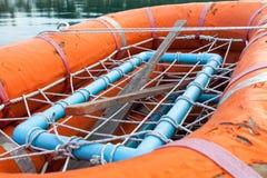 Rettungsboot an Bord der Fähre Lizenzfreies Stockbild